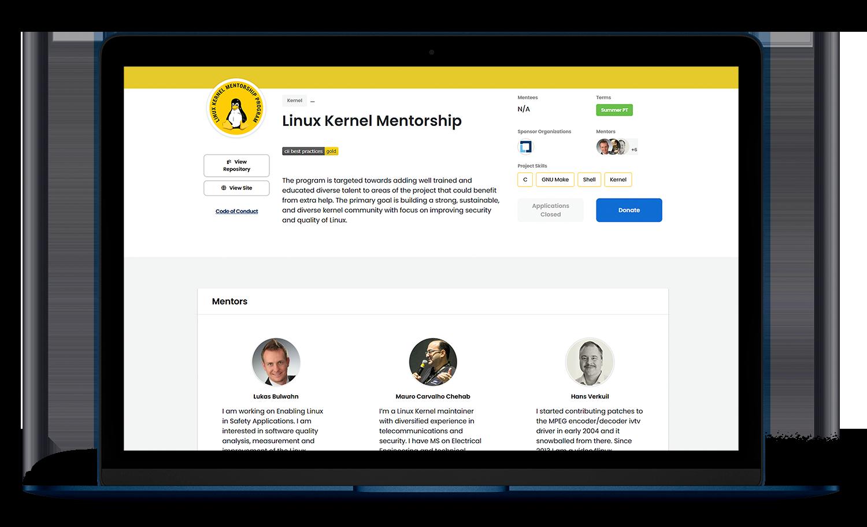 Mentorship Landing Page